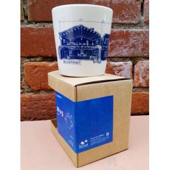 藍晒馬克杯1入MUG(藍底白線款)
